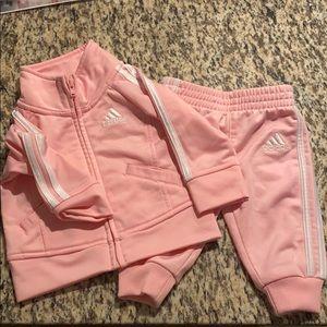 Pink adidas set